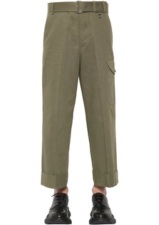 Alexander McQueen Cover Cotton Gabardine Trousers