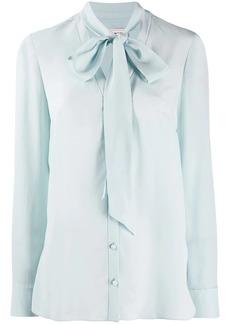 Alexander McQueen crepe de chine neck tie blouse