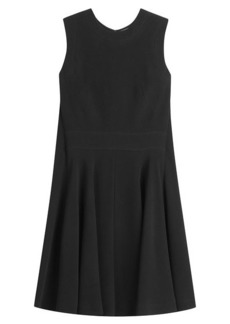 Alexander McQueen Crepe Mini Dress with Cape Back