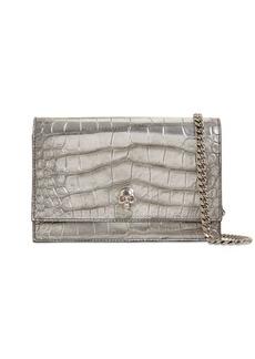 Alexander McQueen Croc Embossed Leather Bag