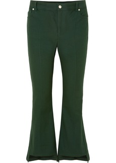 Alexander McQueen Cropped Cotton-canvas Flared Pants