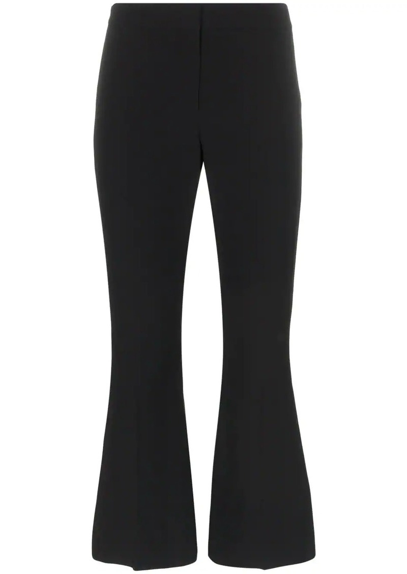 Alexander McQueen cropped kick flare tie detail trousers