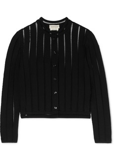 Alexander McQueen Cropped Knitted Cardigan
