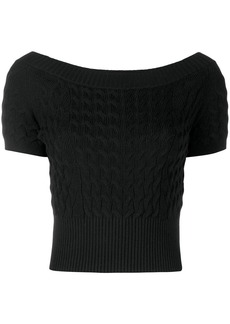 Alexander McQueen cropped knitted top