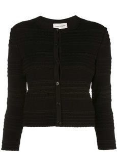 Alexander McQueen cropped textured knit cardigan