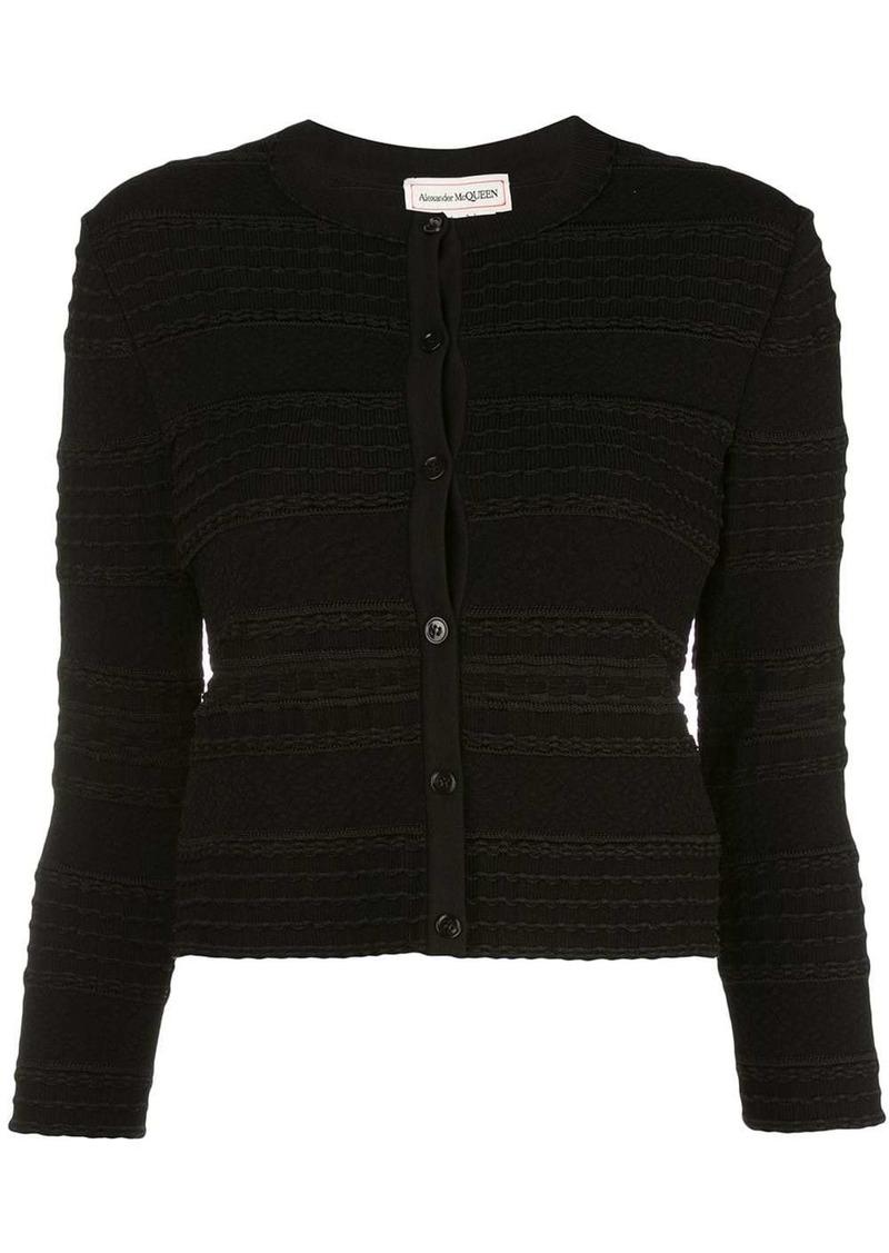 Alexander McQueen cropped textured knit cardigan