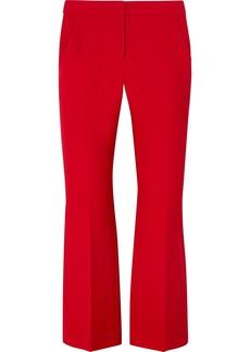 Alexander McQueen Cropped Wool-blend Flared Pants