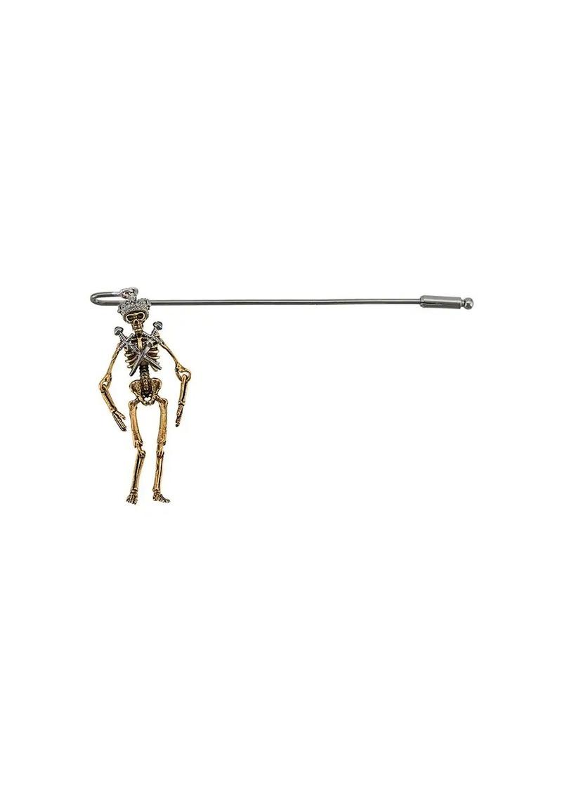 Alexander McQueen crowned skeleton brooch