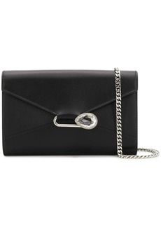 Alexander McQueen crystal detailed clutch bag