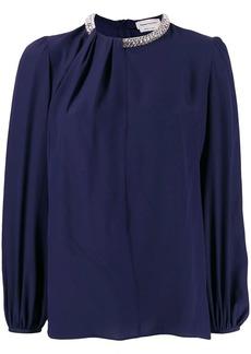 Alexander McQueen crystal embellished blouse
