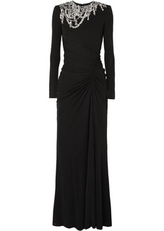 Alexander McQueen Crystal-embellished Crepe Gown