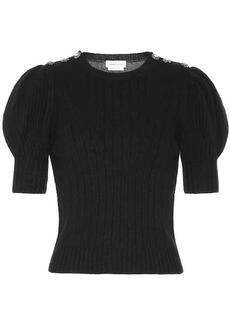 Alexander McQueen Crystal-embellished wool sweater