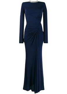 Alexander McQueen crystal rope evening dress
