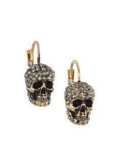 Alexander McQueen Crystal Skull Earrings