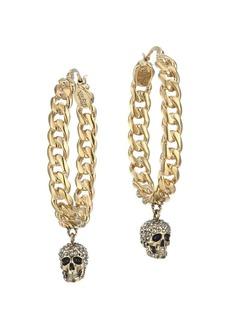 Alexander McQueen Crystal Skull Hoop Earrings