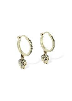 Alexander McQueen Crystal Skull Mini Earrings