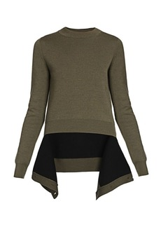 Alexander McQueen Cutout High-Low Hem Pullover