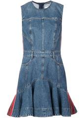 Alexander McQueen denim flared dress