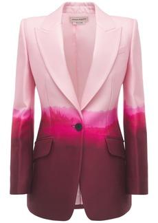 Alexander McQueen Dip Dyed Tailored Wool & Silk Jacket