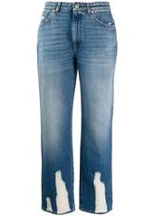 Alexander McQueen distressed straight-leg jeans