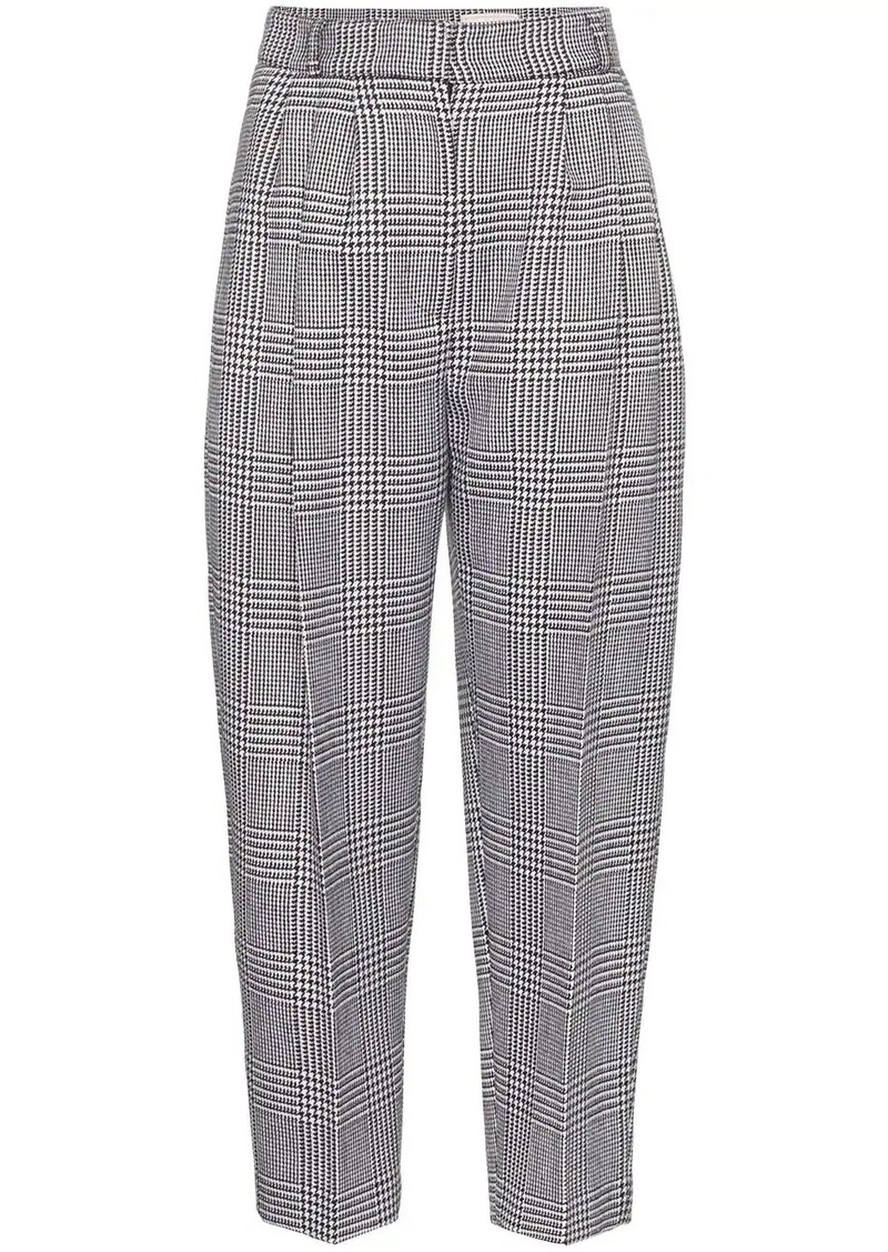 Alexander McQueen dogtooth check trousers
