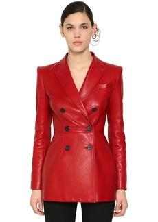 Alexander McQueen Double Breast Nappa Leather Jacket