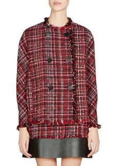 Alexander McQueen Double-Breasted Tweed Jacket