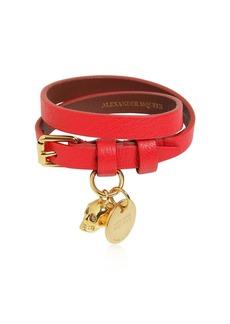 Alexander McQueen Double Leather Bracelet