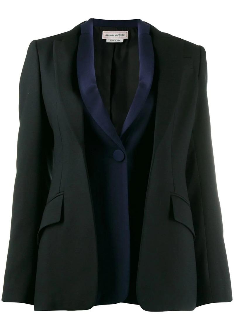 Alexander McQueen double placket blazer