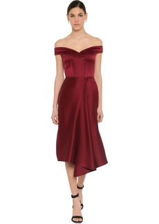 Alexander McQueen Doubled Duchesse Midi Dress
