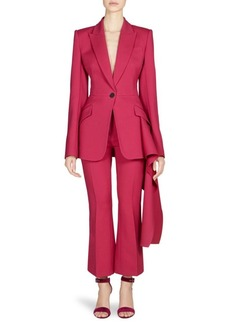 Alexander McQueen Drape-Detail One-Button Blazer