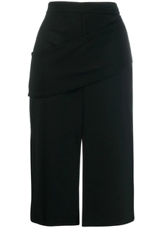 Alexander McQueen drape detail pencil skirt