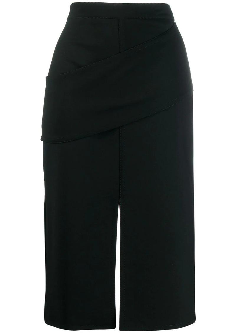 Alexander McQueen drape detail pencil skirt