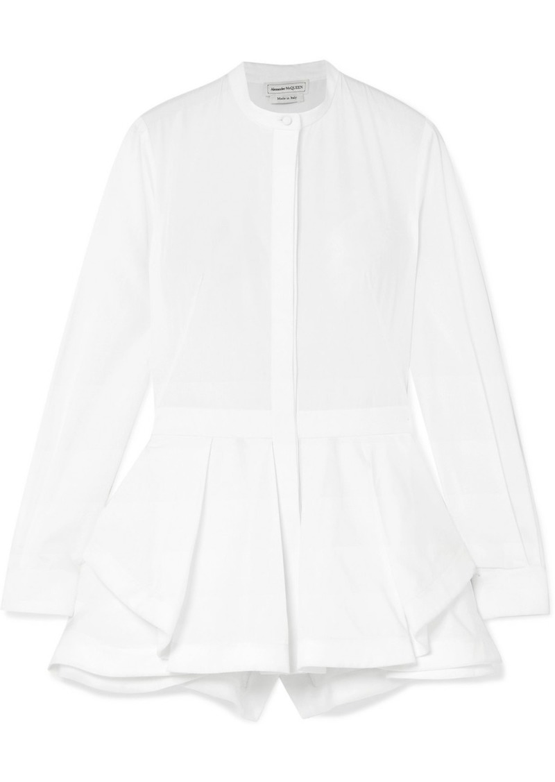 Alexander McQueen Draped Cotton-piqué Shirt