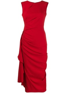 Alexander McQueen draped crepe midi dress