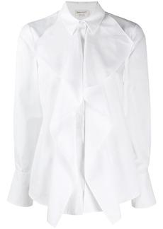 Alexander McQueen draped detail shirt