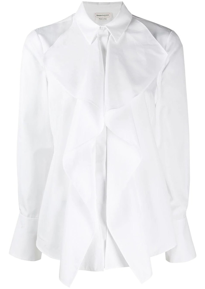 Alexander McQueen draped detail shirt