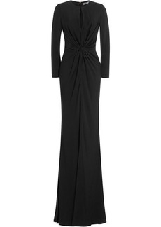 Alexander McQueen Draped Floor Length Gown