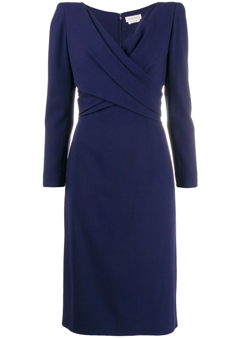 Alexander McQueen draped mid-length dress