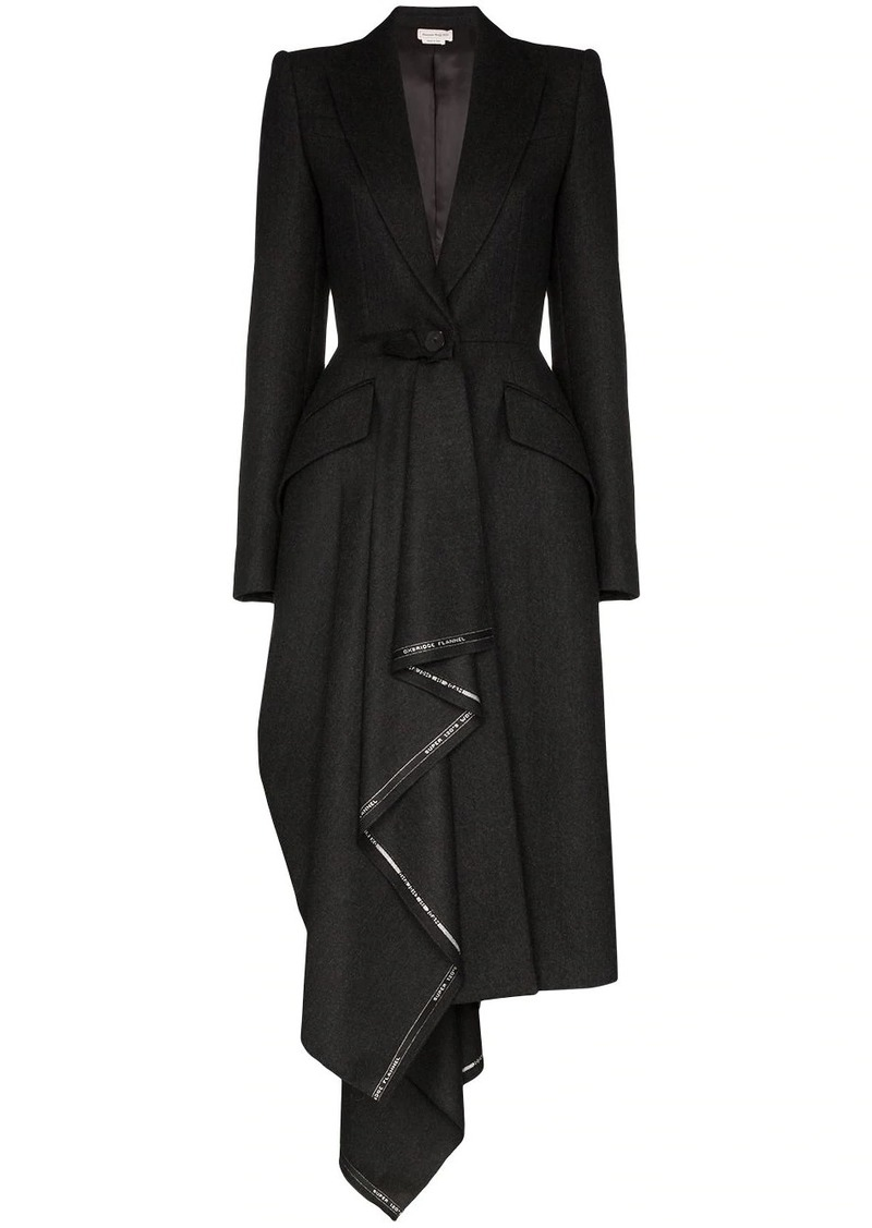 Alexander McQueen draped wool coat