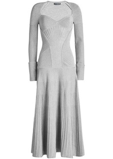 Alexander McQueen Dress with Wool and Metallic Thread