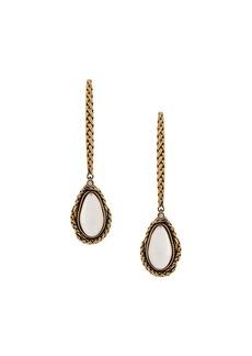 Alexander McQueen droplet stone earrings
