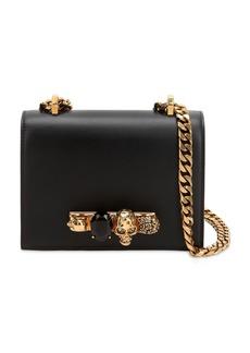 Alexander McQueen Knuckle Leather Shoulder Bag