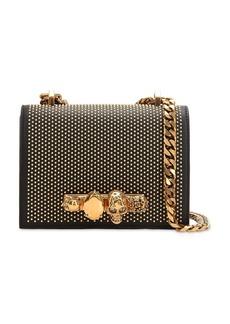 Alexander McQueen Embellished Leather Shoulder Bag