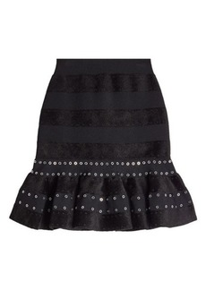 Alexander McQueen Embellished Skirt with Ruffles
