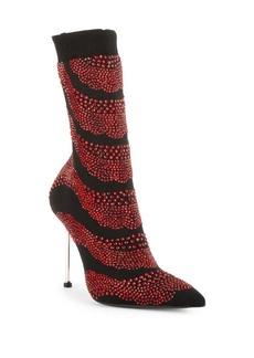 Alexander McQueen Embellished Sock Booties