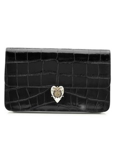 Alexander McQueen Embossed Patent Leather Clutch