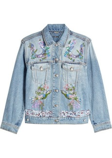 Alexander McQueen Embroidered Denim Jacket
