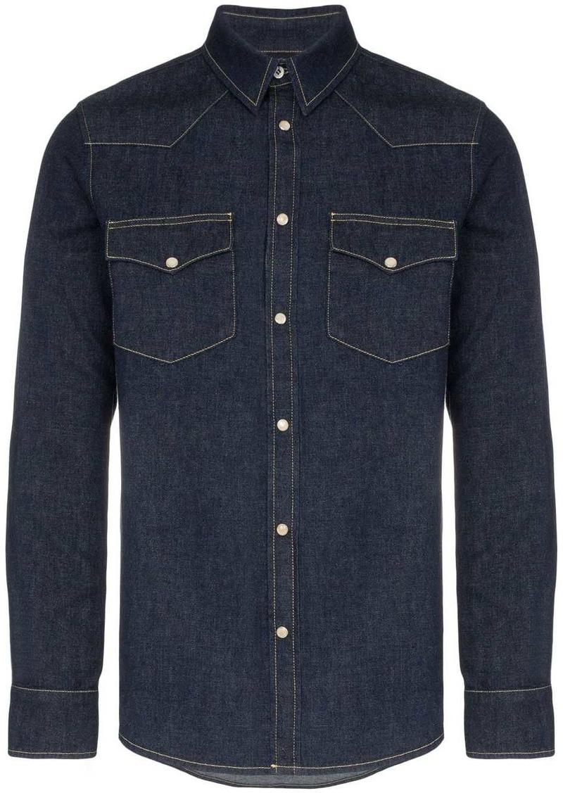 Alexander McQueen embroidered denim shirt