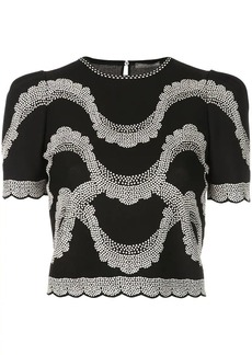Alexander McQueen embroidered details top
